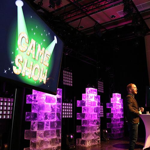 Game Show är en portabel aktivitet för teambuilding och kick-off i Stockholm